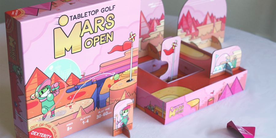mars open tabletop golf game
